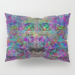 Senile Scream (abstract, psychedelic, visionary, glowing edges) Pillow Sham
