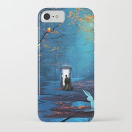 Tardis Lost In The Forest iPhone Case