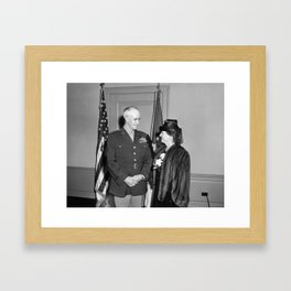 Omar Bradley and Wife - Pentagon - 1948 Framed Art Print