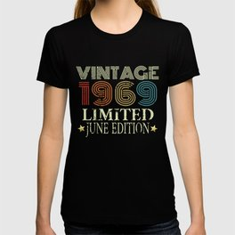 Retro Vintage 1969 Tshirt Womens Mens 50th Birthday Present T-shirt