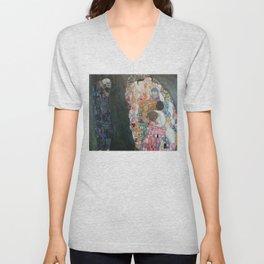 Life and Death - Gustav Klimt Unisex V-Neck