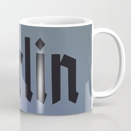 Berlin Fracture Font Coffee Mug