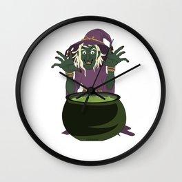 Koch Witch Halloween potion recipe gift Wall Clock