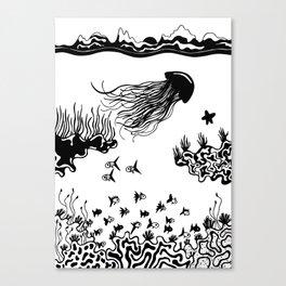 b & w the sea 04 Canvas Print