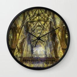 York Minster Van Gogh Style Wall Clock