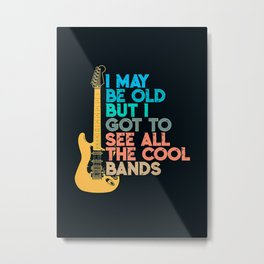 Bass Guitar GUITARI May Be Old Metal Print