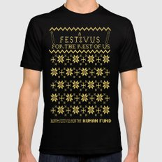 A Festivus for the Rest of Us. MEDIUM Black Mens Fitted Tee