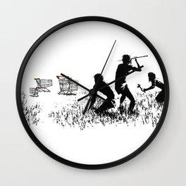 Banksy Trolleys Men Hunting Supermarket Carts Artwork Reproduction for Prints Posters Tshirts Wall Clock