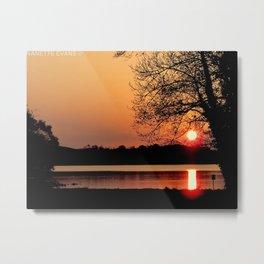 SUNSET OVER LOUGH ERNE Metal Print