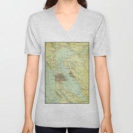 Vintage Map of San Francisco California (1905) Unisex V-Neck