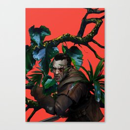 against the ticking of the clock Canvas Print