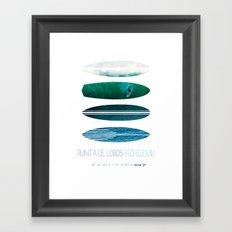 My Surfspots poster-3-Punta de Lobos-Chile Framed Art Print