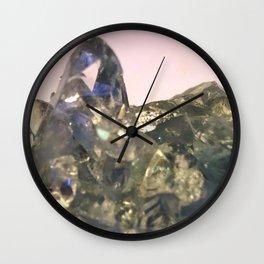 Blue Celestite Crystals Quartz Aura Said to Reduce Stress Wall Clock