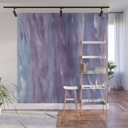 Touching Purple Blue Watercolor Abstract #1 #painting #decor #art #society6 Wall Mural