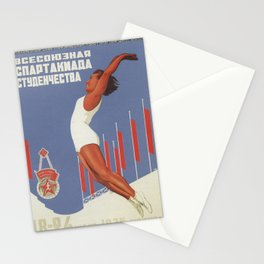SOVIET PROPAGANDA POSTER - All-Union Student Games - 1935 Stationery Cards