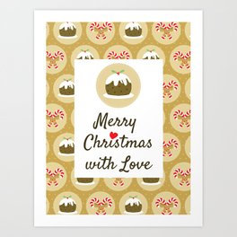 Merry Christmas With Love Art Print