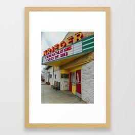 Krieger Theater, Gackle, North Dakota Framed Art Print