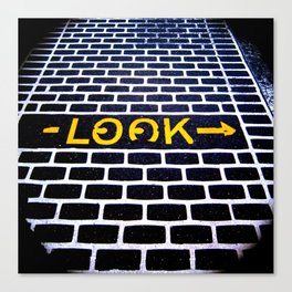Look! Canvas Print