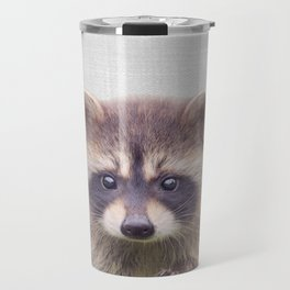 Raccoon - Colorful Travel Mug
