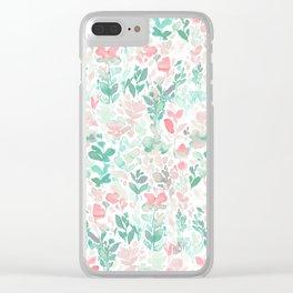 Flirt Mint Blush Clear iPhone Case