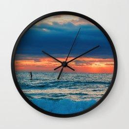 Sunrise Paddler Wall Clock