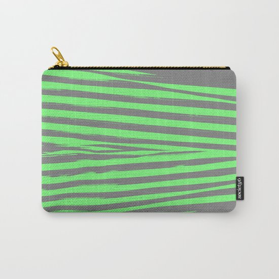 Green & Gray Stripes Carry-All Pouch