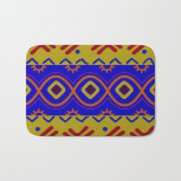 Ethnic African Knitted style design Bath Mat