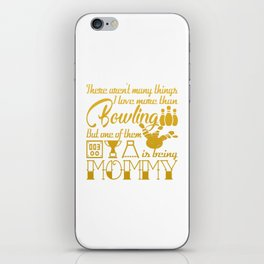 Bowling Mommy iPhone Skin