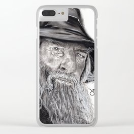The Grey Wizard Clear iPhone Case