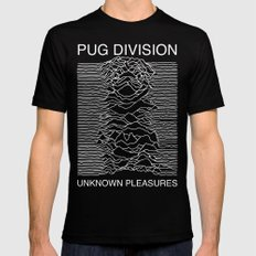 Pug Division Black LARGE Mens Fitted Tee