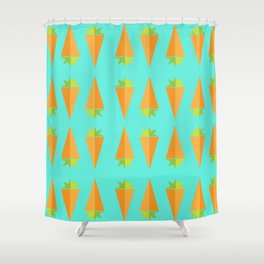Carrot Veg Out Shower Curtain