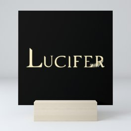 Archangel Lucifer with Feather Light Mini Art Print