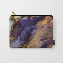 Purple and Gold Abstract Carry-All Pouch
