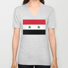 Syrian flag - may PEACE prevail Unisex V-Neck