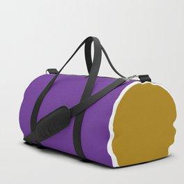 TEAM COLORS 10...GOLD,PURPLE Duffle Bag