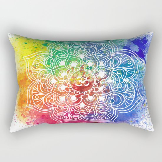 Multicolor mandala Rectangular Pillow