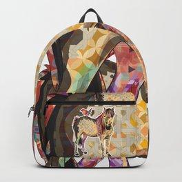 Horse_Bird Pattern_Animal Illustration Backpack