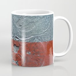 Frostbite // abstract texture painting Coffee Mug