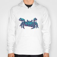 crab Hoodies featuring Crab by Jenji
