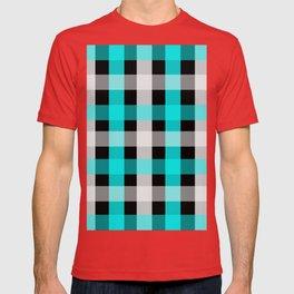 blue black checks T-shirt