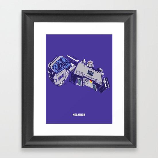 Transformers - Megatron Framed Art Print