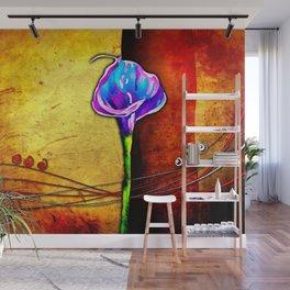 Flower vintage illustration art Wall Mural