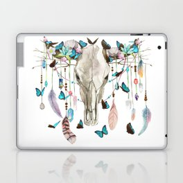 Butterfly Cow Skull Spirit Gazer Laptop & iPad Skin