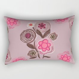 Hand drawn nature botanical floral pattern Rectangular Pillow