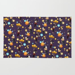 Sun and Moon and Stars Balloons Rug