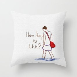 How deep is this? Throw Pillow