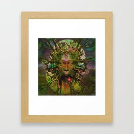 """"""" The nature acts, the man makes. """" Framed Art Print"""