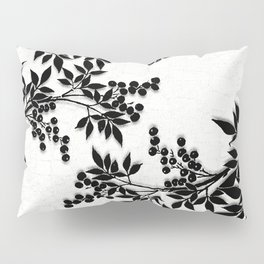 Black and White Leaf Toile Pillow Sham
