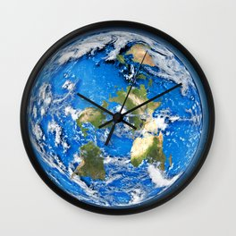 The Flat Earth Wall Clock