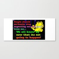 garfield Canvas Prints featuring Garfield nobody by Butterfly Meadow Gifts